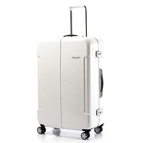 HIDEO WAKAMATSU ヒデオワカマツ ナローII 超軽量 スーツケース L ハードキャリー TSA 64L ホワイト 85-76370-WH   B077MZVWYH