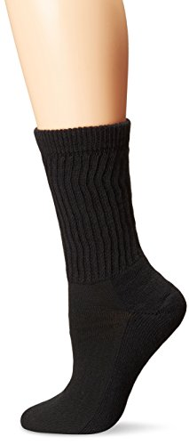 Coolmax Ped Socks (PEDS Women's Diabetic Crew Socks with Coolmax and Non-Binding Funnel Top 2 Pairs, Black, 7-10)