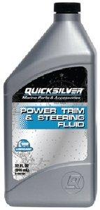 Mercury Quicksilver OEM Power Trim & Steering Fluid Marine Grade Quart Bottle 92-858075Q01 by Mercury Quicksilver