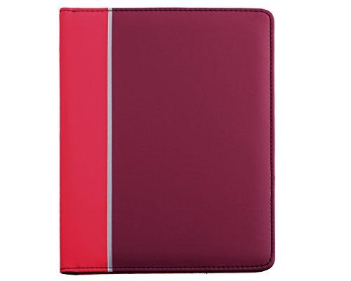 Tonal Junior Writing Padfolio and Personal Organizer with Bonus Pad in Red