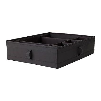 IKEA SKUBB - Caja con compartimentos, negro - 44x34x11 cm