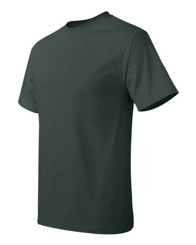 Hanes Herren Asymmetrischer T-Shirt Grün Deep Forest xl