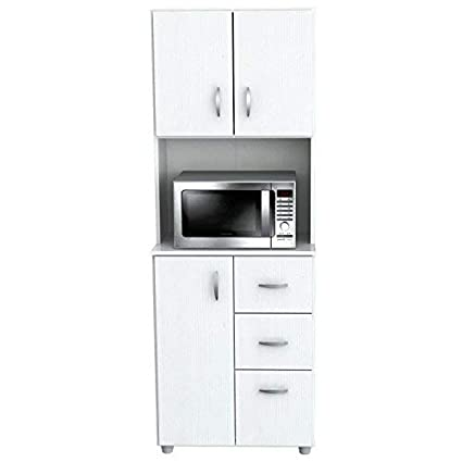 Inval America Larcinia White Kitchen Cabinet