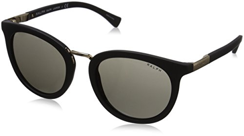 Polo Ralph Lauren Women's 0RA5207 Round Sunglasses, Matte Black, 52 - Lauren Eyeglasses Ralph Womens