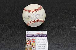 (Bobby Thomson Autographed Signature Onl Baseball Inscribed Shot Heard Round The World - JSA Certified)