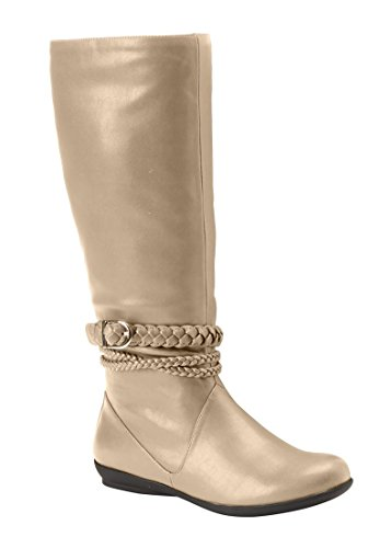 Stivali Da Donna In Pelle Di Vitello Comfort Plus Size