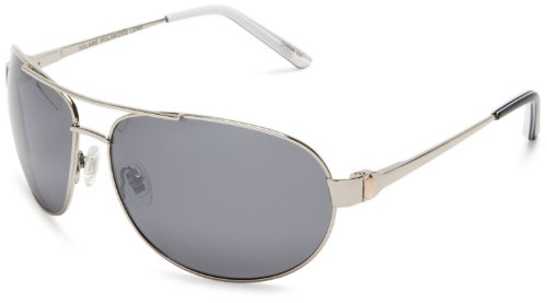 S4 J. P. 718S4 Metal Aviator Sunglasses,Silver Frame/Silver Lens,one - Sunglasses S4