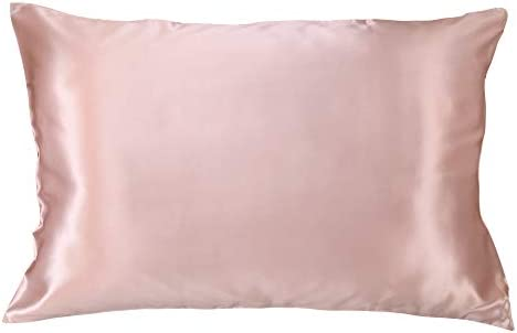 Celestial Silk 100% Silk Pillowcase for Hair Zippered Luxury 25 Momme Mulberry Silk Queen, Vintage Pink