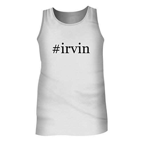 Tracy Gifts #Irvin - Men's Hashtag Adult Tank Top, White, - Irvin Spectrum