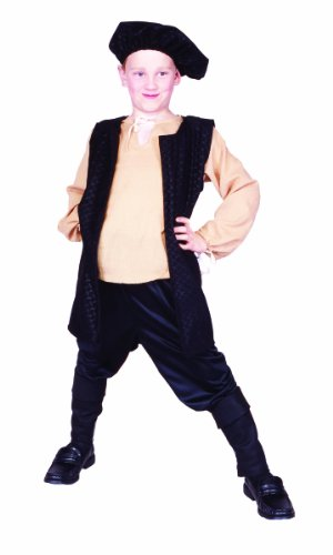 Renaissance Costumes Amazon (RG Costumes Renaissance Boy Costume, Black/Cream, Large)