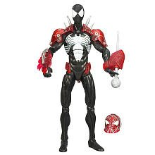 Black Suited Spiderman Costume (SpiderMan Classic Heroes Action Figure Black Costume with Missle Launcher)