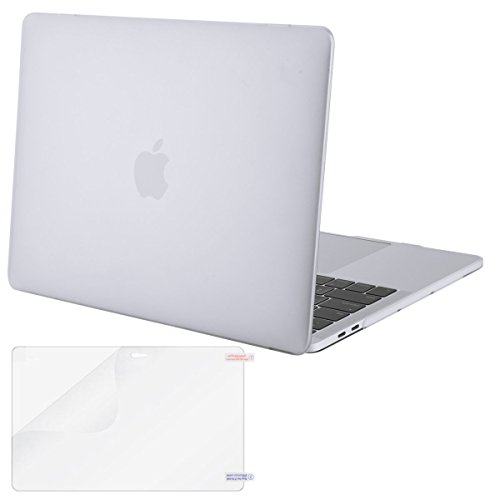 Mosiso MacBook Pro 13 Case 2017 & 2016 Release A1706/A1708, Plastic Hard Case Shell Cover with Screen Protector for Newest Macbook Pro 13 Inch with/without Touch Bar and Touch ID, Frost