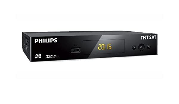 Philips DRS3231T - Decodificador satélite, HD TNTSAT, sin Tarjeta, Color Negro