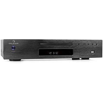 Auna AV2-CD509 Hi-Fi Player USB MP3 Radio Receiver CD RW Black