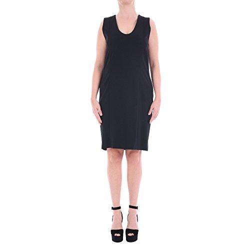 Trussardi Damen 56A3019 Schwarz Viskose Kleid kWAILRm0Y