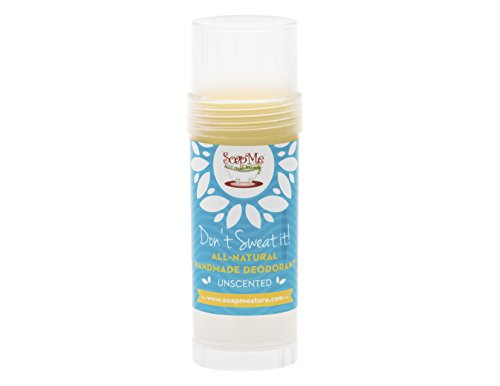 Don't Sweat It All Natural Unscented Deodorant Stick for Women, Men and Kids (Organic, Vegan, Cruelty Free) Contains No Gluten, Aluminum Or Parabens, Best 3.2 Oz Stow-and-Go Container