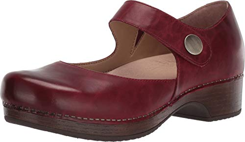 Dansko Women's Beatrice Red Waxy Burnished 42 Regular EU