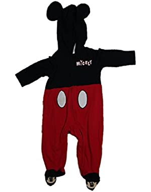 Mickey Mouse Infants Footed Bodysuit Costume with Ears (6-9 Months)