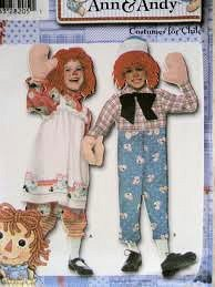 Simplicity 4471 Raggedy Ann & Andy Costumes for Toddlers Size AA (1/2, 1, 2) ()