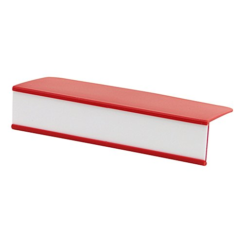Holder Label Cover Clear Plastic (Gressco Clip-On Plastic Shelf Label Holder 1 inch H x 5 inches W x 2 1/4 inches D Red 10/Pkg)