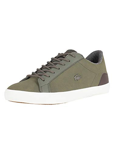 318 Men Lerond CAM Lacoste Trainers Green 2 Leather Green p164xxq