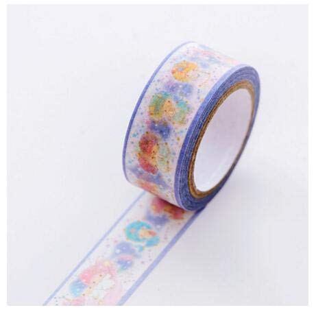 Cacys-Store - Twin Star Washi Tape DIY Scrapbooking Sticker Label Masking Tape Office Supply ()