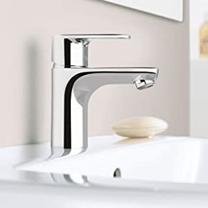 hansgrohe talis e single hole chrome lavatory faucet touch on bathroom sink faucets. Black Bedroom Furniture Sets. Home Design Ideas
