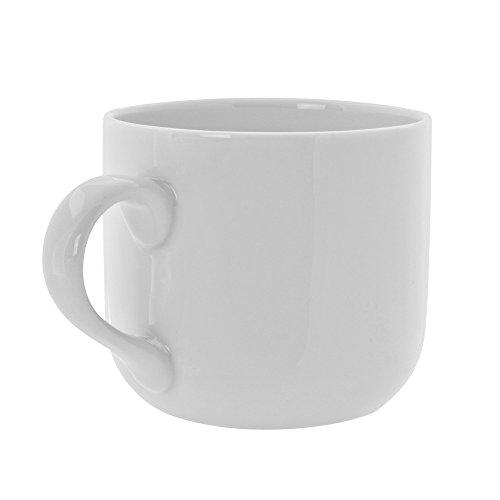 Royal White 13 Oz Round Latte Mug, Set of 6, White ()