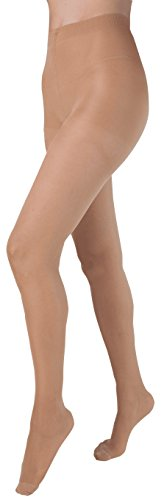 Health Support Vascular Hosiery 15-20 mmHg, Panty Hose, Sheer, Beige, Regular Size A Part No. 121112A Qty 1 by Carolon Company
