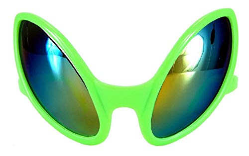 elope Green Alien Costume Glasses for Adults Men