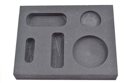 OTOOLWORLD Graphite Casting Ingot Mold Metal Refining Scrap Bar Coin Combo 1/4 1/2 1 oz (Ingot Mold Copper)