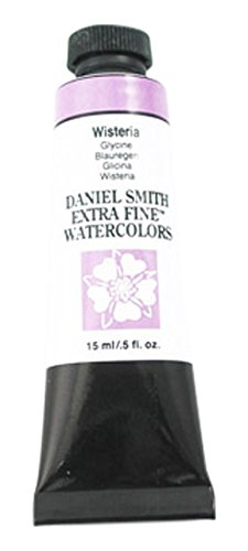 Ml Red 5 Tube (DANIEL SMITH Extra Fine Watercolor 15ml Paint Tube, Wisteria)
