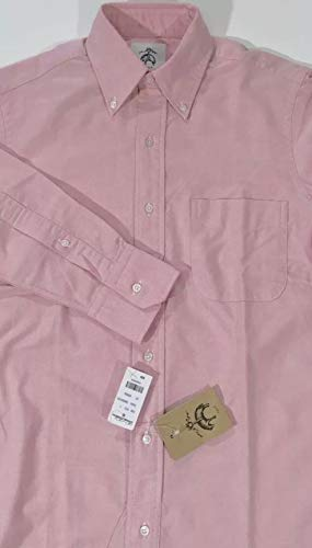 Brooks Brothers Black Fleece by THOM Browne Men's Solid Pink L/S Button Down Oxford Shirt ()