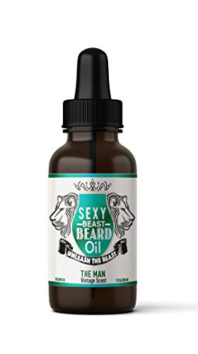 #1 BEST Beard Oil For Men, Proprietary 9 Oil Blend Stimulates Facial Hair + Beard & Mustache Growth + Repairs Frizzy Hair + Eliminates Dry Itchy Skin For A Thicker Fuller Sexy Beard (VINTAGE SCENT)