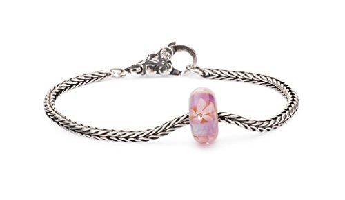 Trollbeads 925 Pink Sea Anemon Bead Sterling Silver 19cm Soft Sunshine Bracelet by Trollbeads