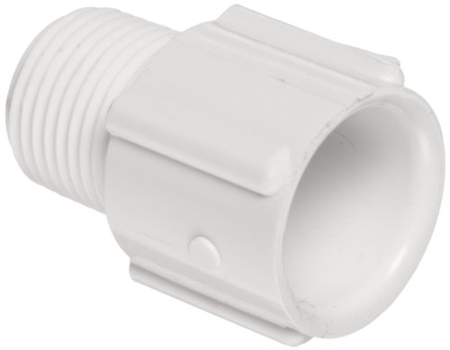 Spears 436 Series PVC Pipe Fitting, Adapter, Schedule 40, White, (2in Male Threaded Connectors)