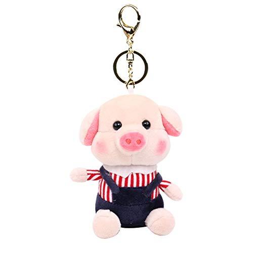 bromrefulgenc Soft Plush Keychain, Cartoon Fragrance Pig Key Ring, Bag Holder Doll, Pendant Perfect as Valentine's Day Decor Gift for Girls-Navy Blue from bromrefulgenc