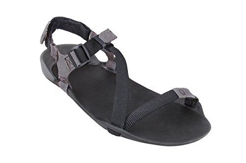 Xero Schuhe Barfuß-inspirierte Sport Sandalen - Z-Trek - Frauen Kohle / Kohle Schwarz
