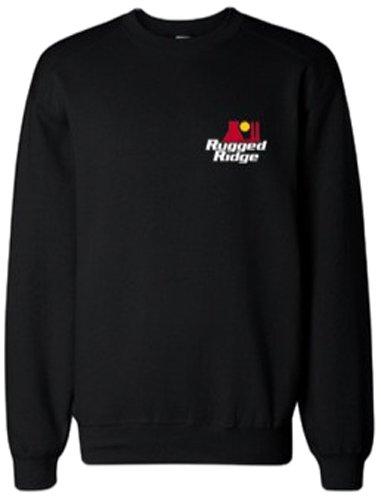 Rugged Ridge 14223.01 Black Small Sweatshirt with Ready To Rock Logo