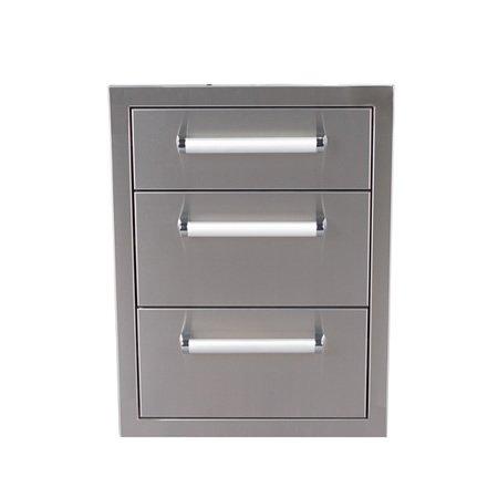 Bonfire stainless steel 304 Triple Drawer (CBATD)