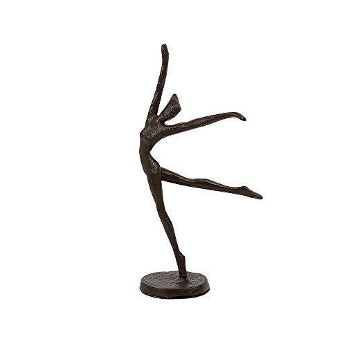 CTG, 2 x 7.5 x 2 inches, Bronze-Look Ballerina Sculpture, Brown (Bronze Dance Statues)