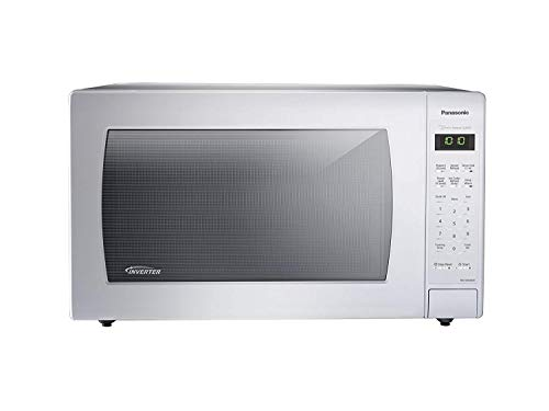 (Panasonic NN-SN936W Countertop Microwave with Inverter Technology, 2.2 cu. ft., 1250W, White)
