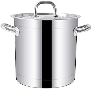 大型ディープステンレス鋼の誘導証券ポットキャセロールStockpot野菜鍋、複数のサイズのオプション (Size : 30*30.5CM)