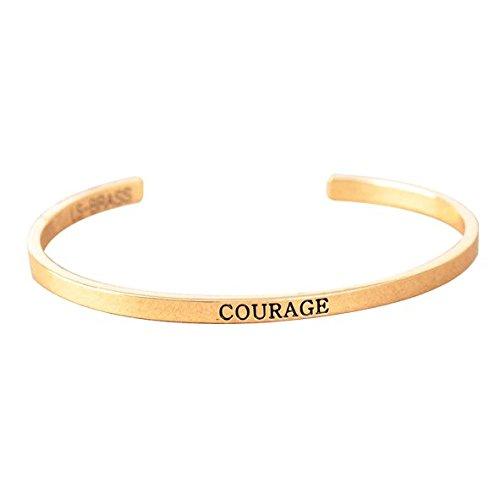 itGioielli In Rigido Bracciale OroAmazon Courage Slim Line 0Pknw8O