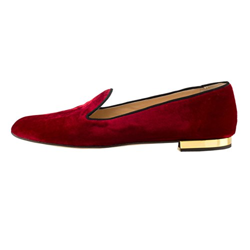 Red Classic MERUMOTE Comfortable Pointed Toe Sandals Flat Women's Unzwxa1