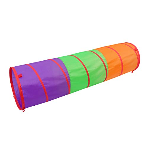 Sunny Days Entertainment 6-Foot Assembly-Free Adventure Play Tunnel for Kids Indoor & Outdoor Pop-Up Crawl - Rainbow Tunnel