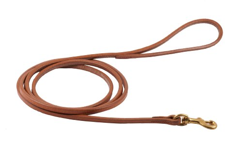 Alvalley Flat Snap Lead for Dogs 3/8 in x 6ft (Leather Snap Lead)