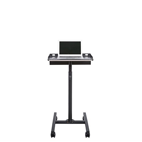 Laptop Rolling Cart Mobile Workstation (Black) by Versa Tables