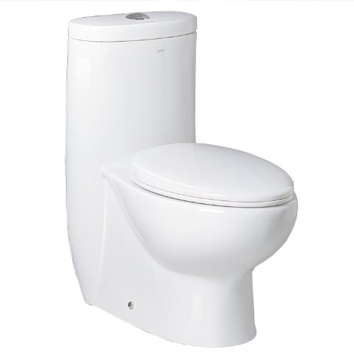 Ariel Bath Hermes Contemporary Elongated One Piece Toilet...