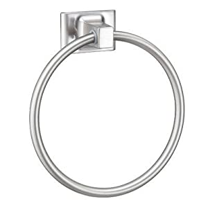 Hardware House 689463 Sunset Collection Towel Ring, Satin Nickel